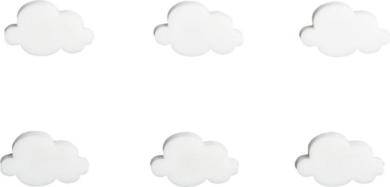 set of 6 cloud magnets