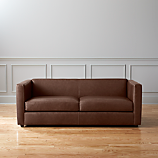club leather sofa