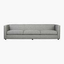 club grey 3-seater sofa