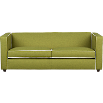club moss sofa with piping