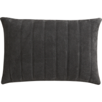 "clutch dark brown 18""x12"" pillow"