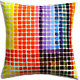 "color block 16"" pillow with down-alternative i"