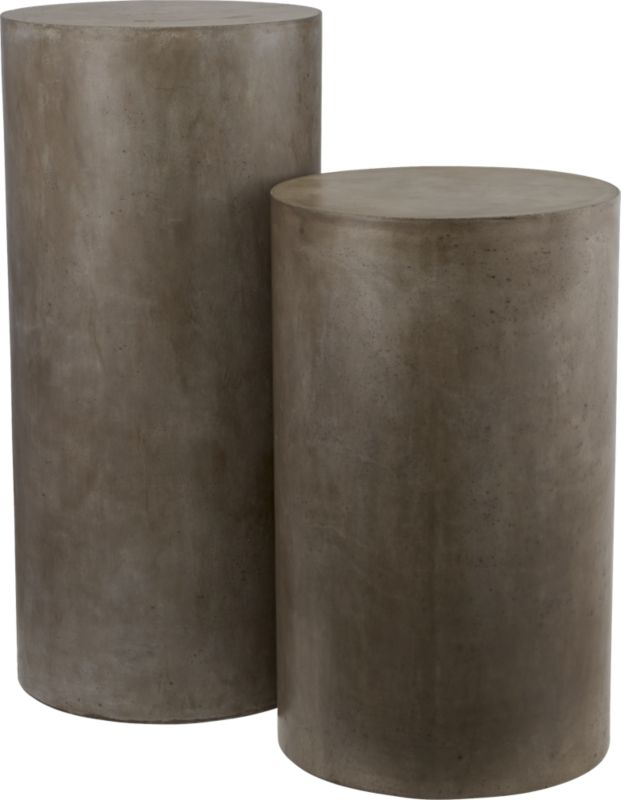 column grey pedestals