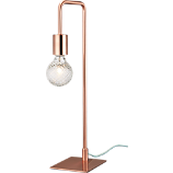 copper arc table lamp
