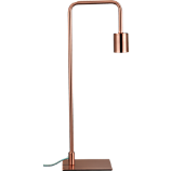 copper arc table lamp