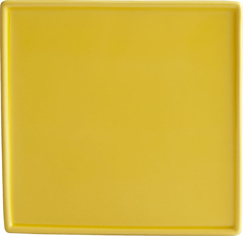 crewcut square yellow appetizer plate