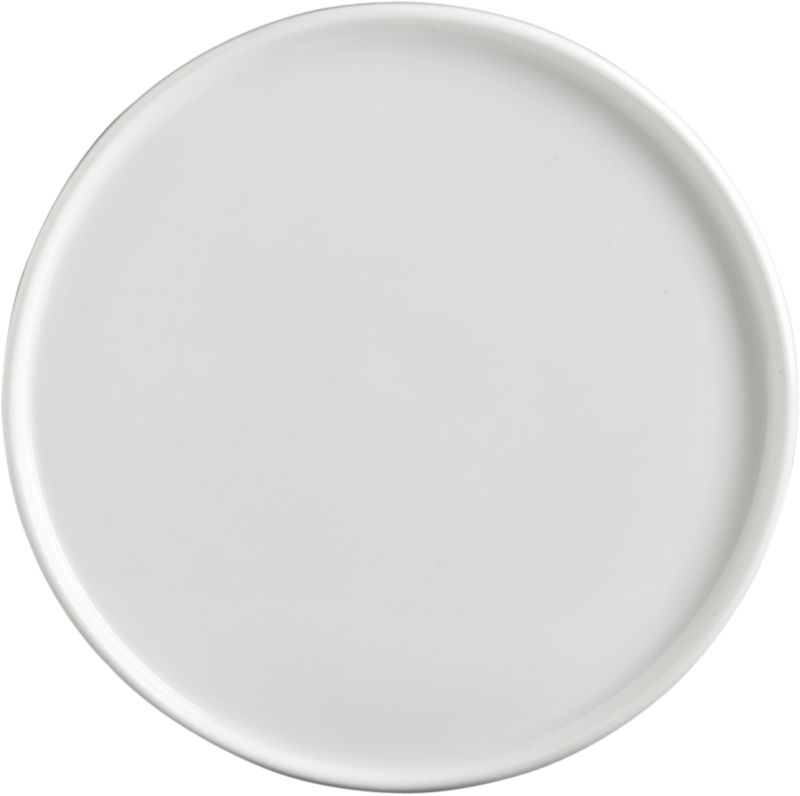 crewcut round white appetizer plate