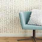 crumpled trees metallic traditional paste wallpaper.