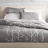 crumpled trees full/queen duvet cover