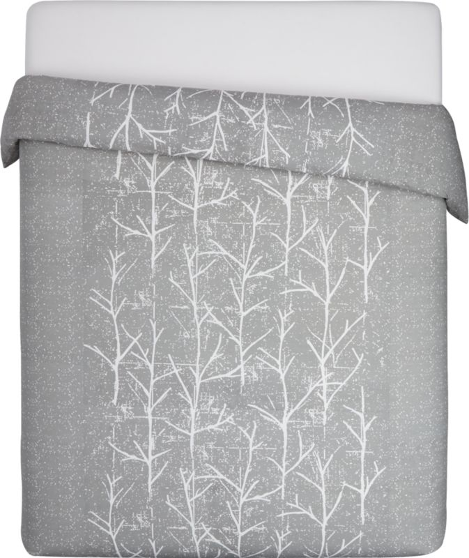 crumpled trees king duvet cover