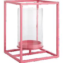 cube neon pink lantern
