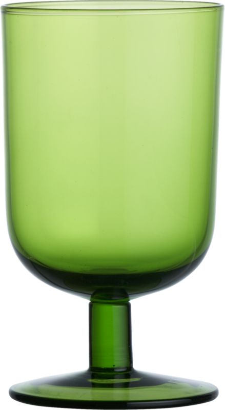CurveWineGlassGreen13ozS13