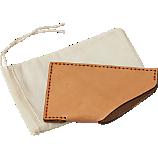orange stitch leather wallet