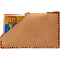 orange stitch leather wallet