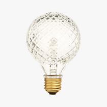 Cut glass light bulb