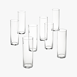 set of 8 cylinder champagne flutes