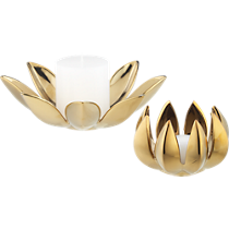 2-piece dahlia candleholder set