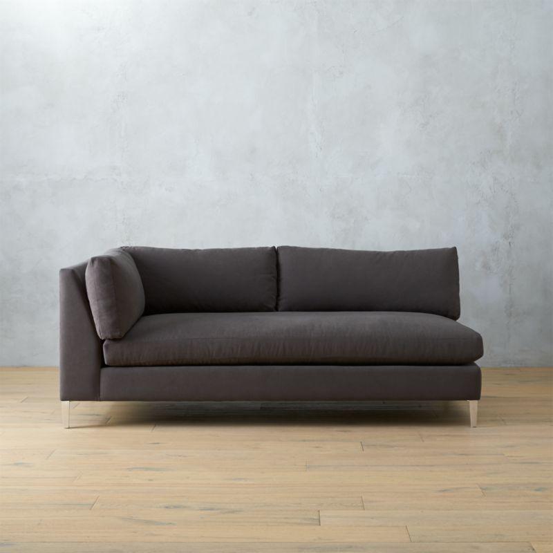 Decke Couch: Decker Left Arm Sofa - Smoke