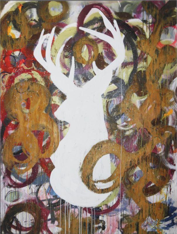 deer mom painting