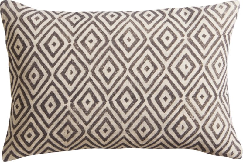 "diamond lattice 18""x12"" pillow with feather-down insert"