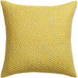 Diamond Weave Yellow 18 Quot Pillow With Down Alternative