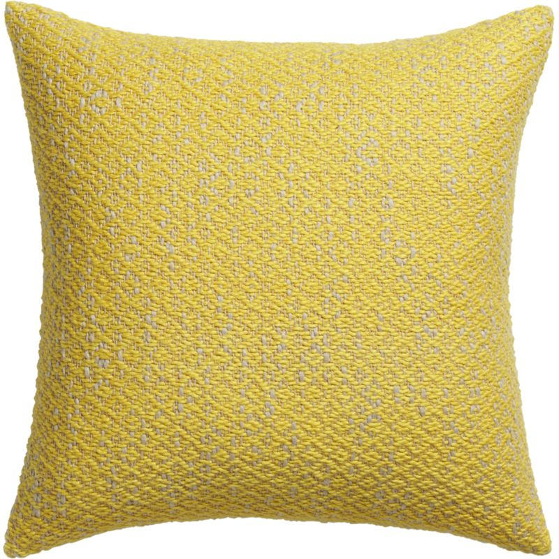"diamond weave yellow 18"" pillow"