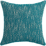 """diamond weave swoon 18"""" pillow with down-alternative insert"""