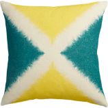 "dichromic X 20"" pillow with down-alternative insert"