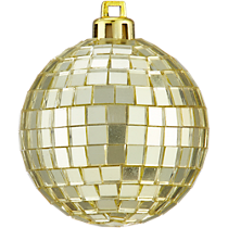 disco ball gold ornament