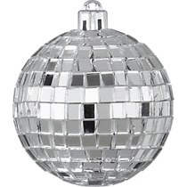 disco ball silver ornament