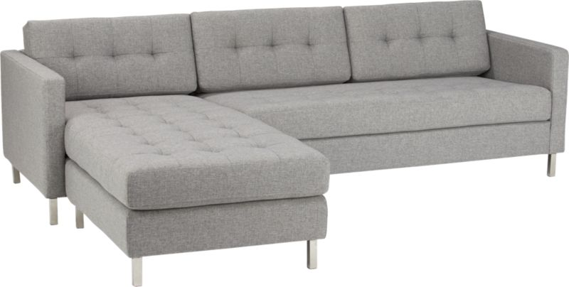 Modern armless chair - Ditto Grey Sectional Sofa Grey Cb2