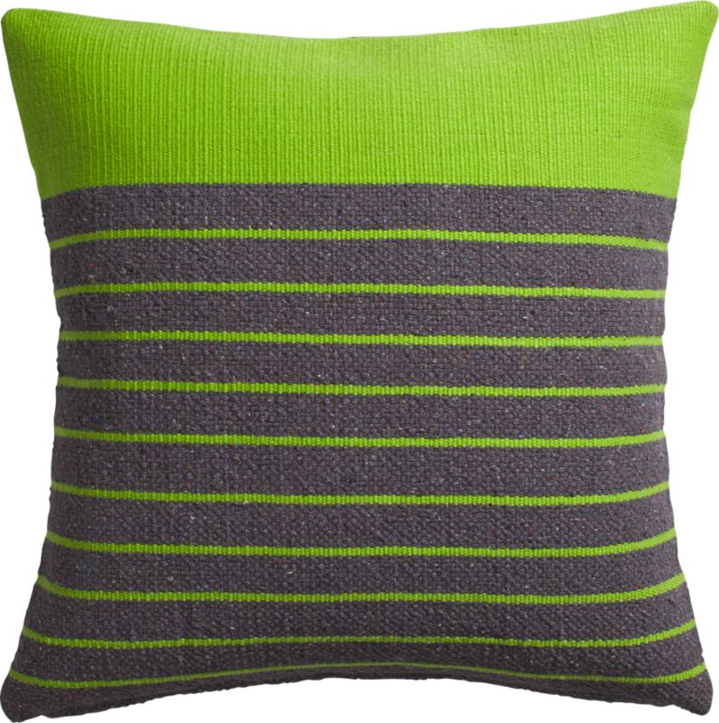 "division green 20"" pillow with down-alternative insert"