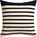 "division navy 20"" pillow with feather insert"