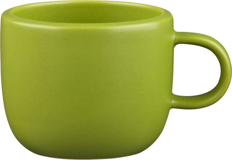 doppio matte green mug