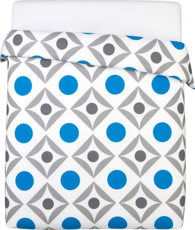 dot trellis full/queen duvet cover
