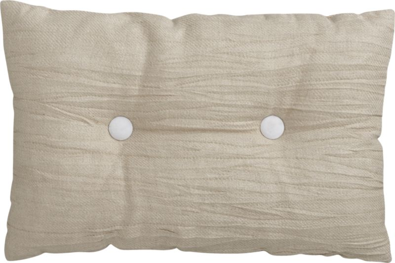 "double button-up white 18""x12"" pillow"