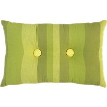 "button-up double green stripe 18""x12"" pillow"
