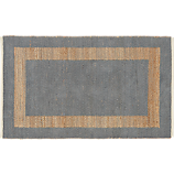 double text grey rug 3'x5'