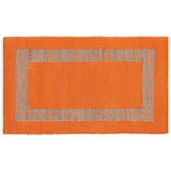 double text orange rug 3'x5'