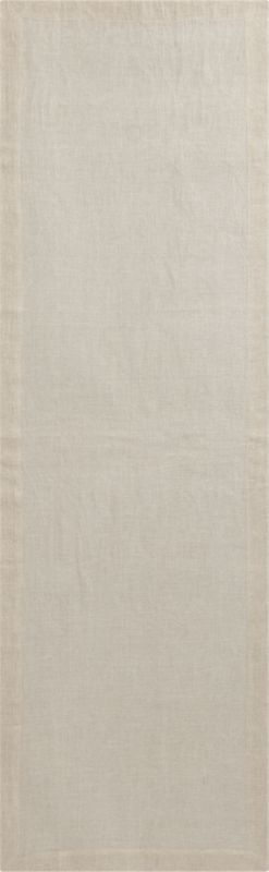 duo natural linen placemat for two