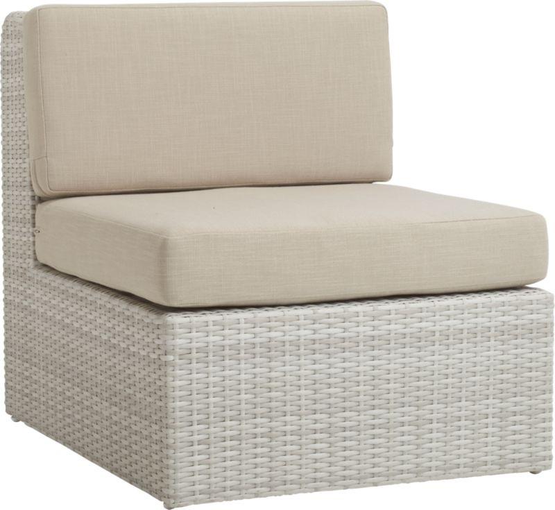 Ebb Armless Chair Cb2