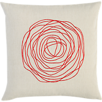ebb red 16&quot; pillow