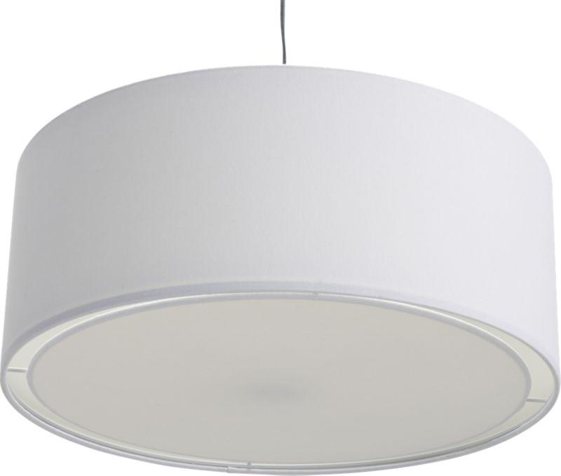 eden white pendant light : CB2