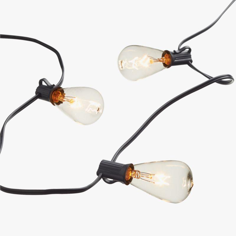 edison string lights CB2