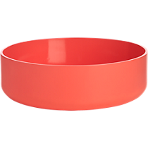 electric neon peach serve bowl