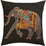 "embroidered elephant 18"" pillow"