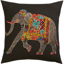 embroidered elephan
