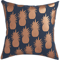 "escape copper 18"" pillow"