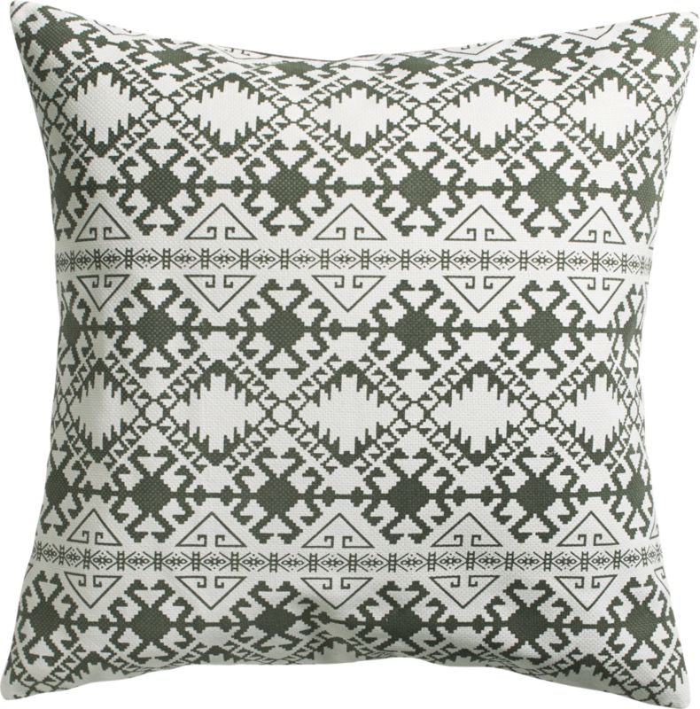 "ethno 20"" pillow with feather-down insert"
