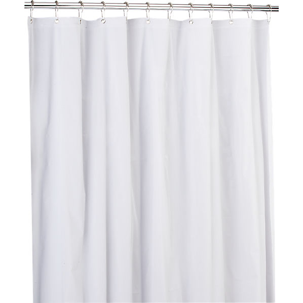peva white shower curtain liner cb2